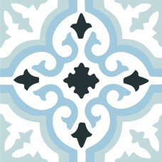 Lush  blue 45CMx45CM Pre Cut Porcelain Feature Floor And Wall Tile