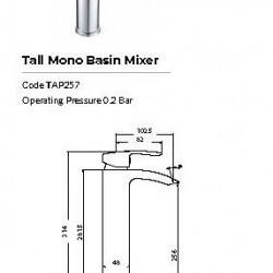 Belini Tall Mono Basin Mixer