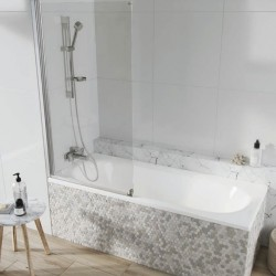 Acqua Arm Bath Screen Single Panel