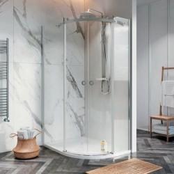 S8 Frameless Offset Double Door Shower Enclosures
