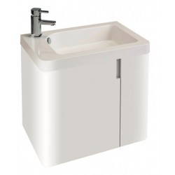 Cara Highlife 600 Basin And Unit In High Gloss White And Mirror