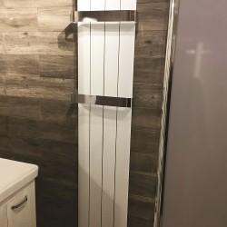 Isumm™ Designer Radiators Finossa White 1800mm x 375mm With Towel Rail Option