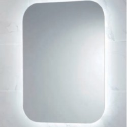 Aura LED Mirror with Demister Pad and Shaver Socket