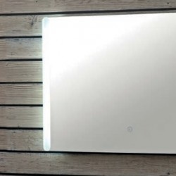 Berio LED Mirror with Demister Pad and Shaver Socket 700 x 500mm