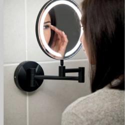 Black Round LED Make-Up Mirror Wall Mounted