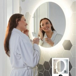 Lunar LED Mirror with Demister Pad 600mm