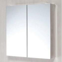 Double Door Stainless  Steel Mirror Cabinet