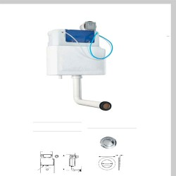 Concealed Cistern with Polystyrene Jacket and Square Button