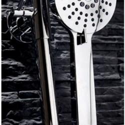 Chrome Round Rigid Riser Shower