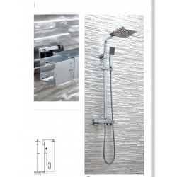 Elliot Chrome Thermostatic Square Rigid Riser Shower
