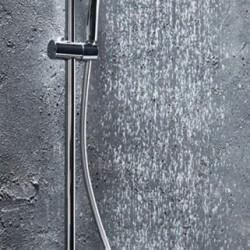 MESSI Round Cool Touch Rigid Riser Shower