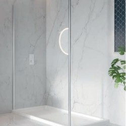 S8 Single Wetroom Panel With Floor To Ceiling Post