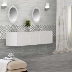 Wavestone Dark Grey Gloss 33x55 Ceramic Wall