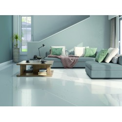 Barbados Digital White Super Mirror High Gloss Rect Large 120x60 Wall and Floor