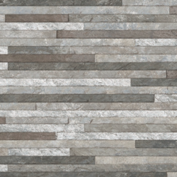 Brick Strathum Grey Spliface Feature Wall Tile 33x55cm