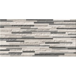 Peak Splitface Decor Sand Silver Grey Matt Wall And Floor Porcelain 30x60cm