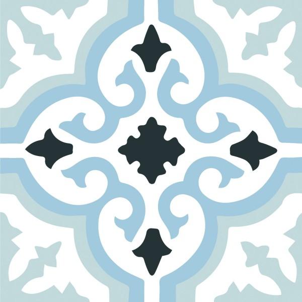 Lancaster Blue 45x45CM Pre-Cut Porcelain Wall And Floor Feature Tile