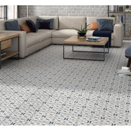 Brighten Grey 45x45CM Pre-Cut Porcelain Wall And Floor Feature Tile