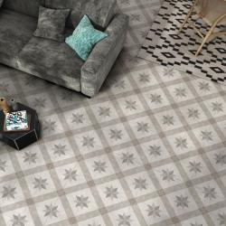 Southampton Grey 45CMx45CM Pre Cut Porcelain Feature Floor And Wall Tile