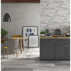 Bright Silver Grey Matt Wall And Floor Porcelain 30x60cm