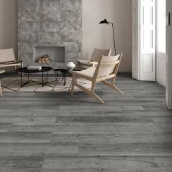 Lantis Hickory Porcelain Wood Effect Grey 24CM X 88CM Wall And Floor Tile