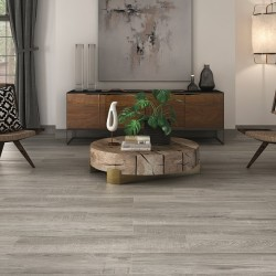 Blitz Knots Porcelain Wood Effect Grey 120CM X 23CM Wall And Floor Tile