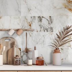 El Dorado Gold Marble Matt Satin Porcelain Wall And Floor Tiles 30cmx60cm