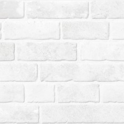 Brixwork White Splitface Feature 33CMx55CM Kitchen And Bathroom Wall Tile