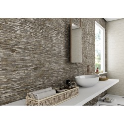 Broadway Feature Grey Brown 20CMx60CM Ceramic Kitchen And Bathroom Wall Tile