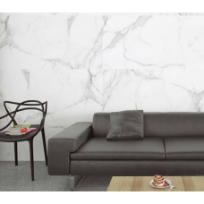 Carrara Digital Marble White Gloss Rect Large 120x60 Wall and Floor