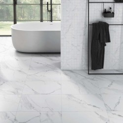 Carrara Digital Marble White Matt Rect Large 80x80 Wall and Floor