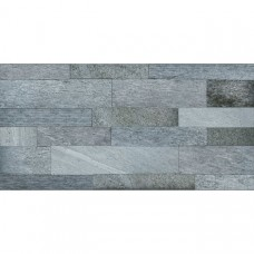 Sensor Grey Split Face 45x90 Matt textured Porcelain Feature Wall and Floor Tile