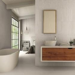 Wavestone Light Grey Gloss 25x40 Ceramic Wall