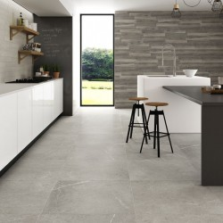 Neval Grey Matt Porcelain Wall And Floor Tiles 30cmx60cm