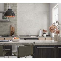 Neval Grey Matt Porcelain Wall And Floor Tiles 30cmx60cm