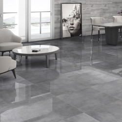 Reflections Grey Mirror High Gloss Rectified 80x80 Floor And Wall