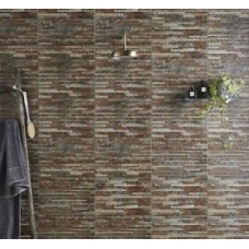 Brick Brix Strathum Splitface Multi-Colour 31x45cm Ceramic Matt Kitchen & Bathroom Wall Tile