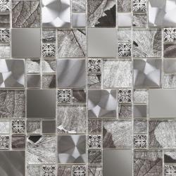 Jupiter Silver Glass/Metal Mix Modular Mosaic