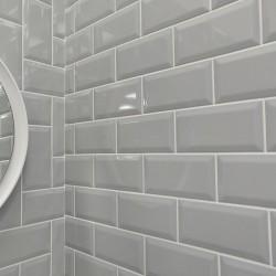 Underground Light Grey Metro Gloss Ceramic 100x200 Kitchen Wall Tiles