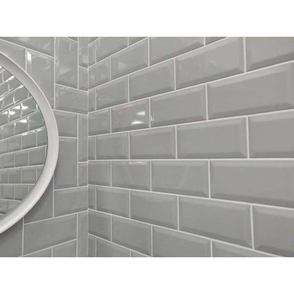 Underground Light Grey Metro Gloss Ceramic 100x200 Kitchen ...