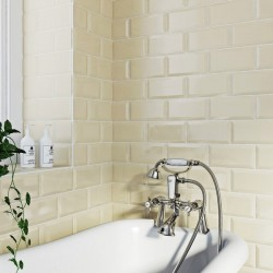 Underground cream Metro Gloss Ceramic 100x200 Kitchen Wall Tiles